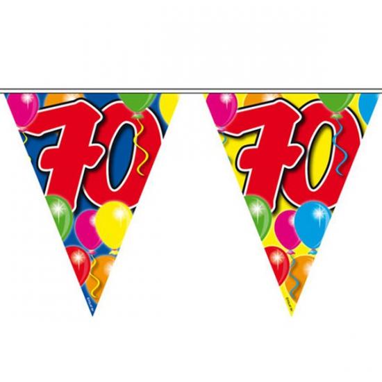 Gekleurde vlaggenlijn 70 jaar