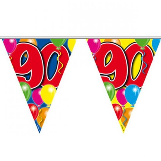Gekleurde vlaggenlijn 90 jaar