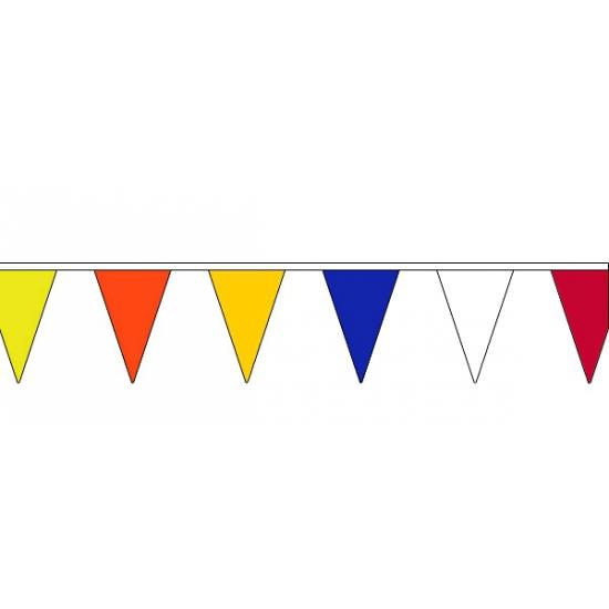 Gekleurde vlaggenlijn van stof 13 meter