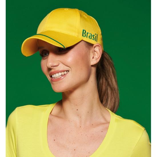 Gele Brazilie petten 100% katoen