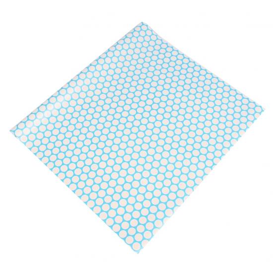 Geschenkpapier blauw met stippen