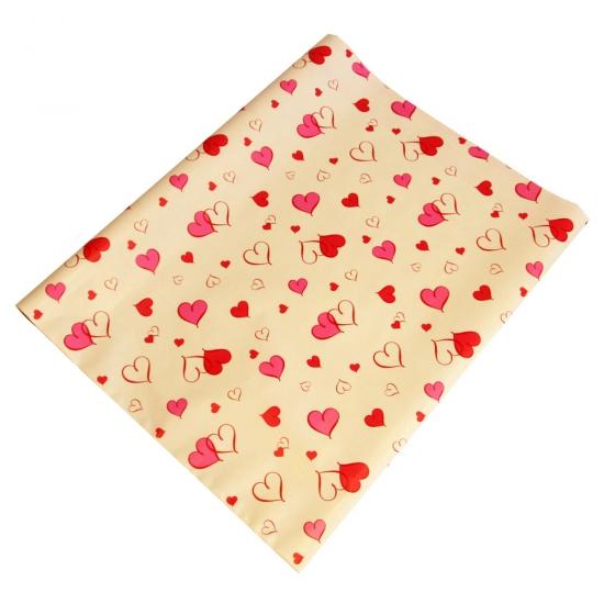 Geschenkpapier roze hartjes