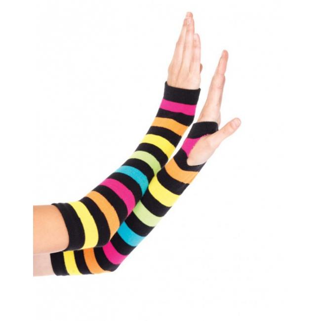 Gestreepte handschoenen regenboog