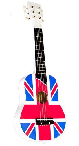Gitaar met de vlag van Engeland