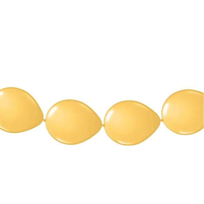 Gouden ballonnen slinger 3 meter