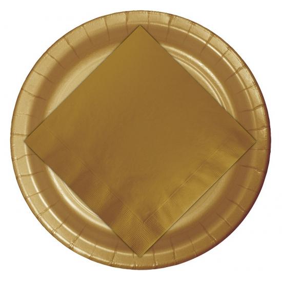 Gouden borden 23 cm