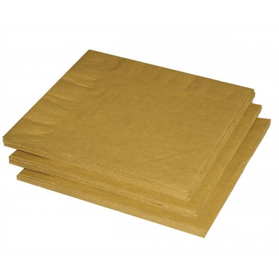 Gouden kerst servetten 33 cm