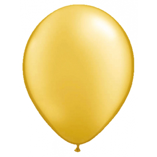 Goudkleurige helium ballonnen 50 stuks