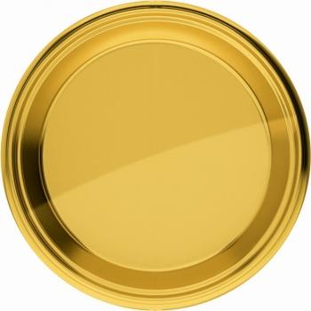 Goudkleurige ronde borden 8 stuks