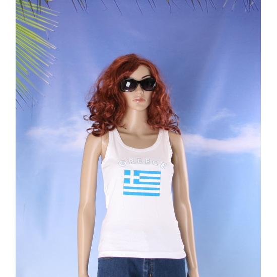 Griekse vlag tanktop/ singlet voor dames