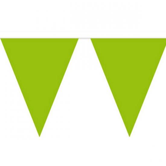 Groene slinger met vlaggetjes