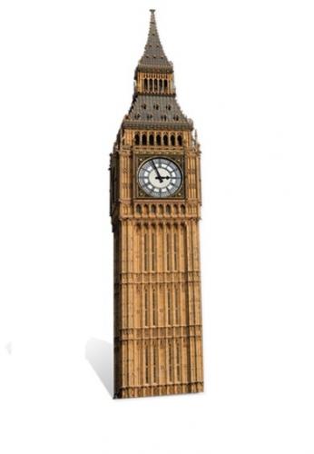 Groot decoratie bord Big Ben 185 cm