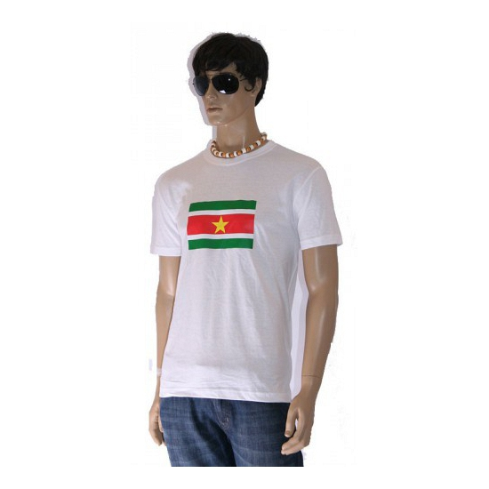Grote maten shirts met vlag van Suriname