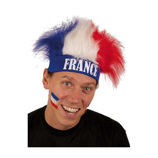 Haarband met pruik Frankrijk