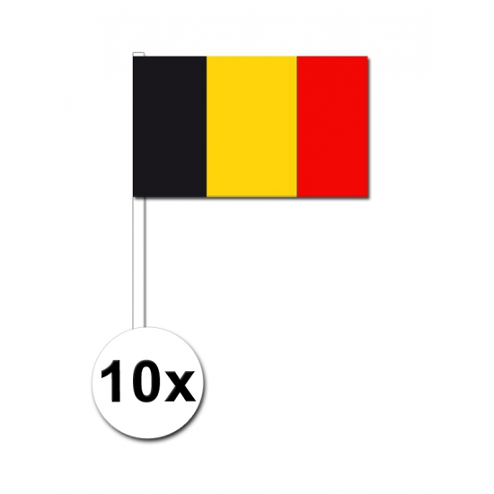 Handvlag Belgie set van 10