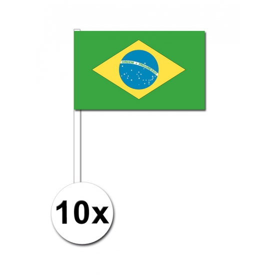 Handvlag Brazilie set van 10