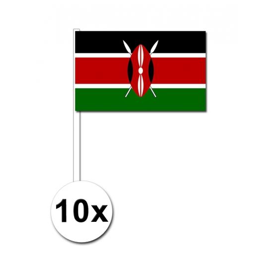 Handvlag Kenia set van 10 stuks