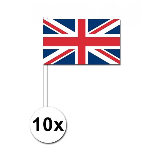 Handvlag Union Jack set van 10