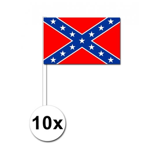 Handvlaggen Confederatie 10x
