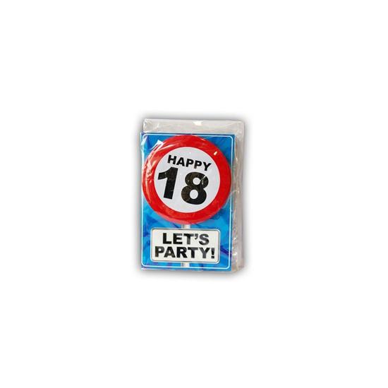 Happy Birthday leeftijd kaart 18 jaar