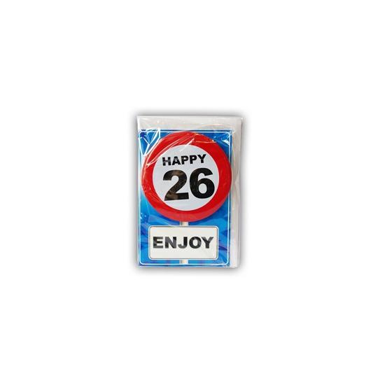 Happy Birthday leeftijd kaart 26 jaar
