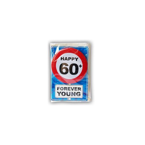 Happy Birthday leeftijd kaart 60 jaar