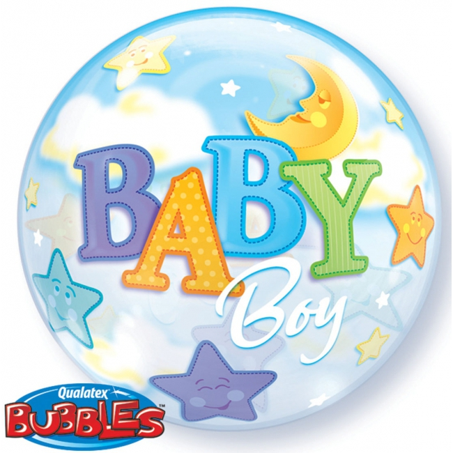 Helium ballon geboorte jongetje