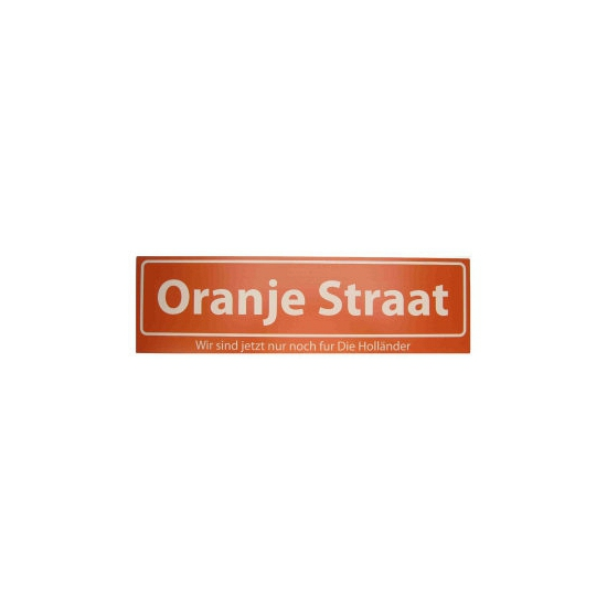 Holland straatbord Oranje Straat