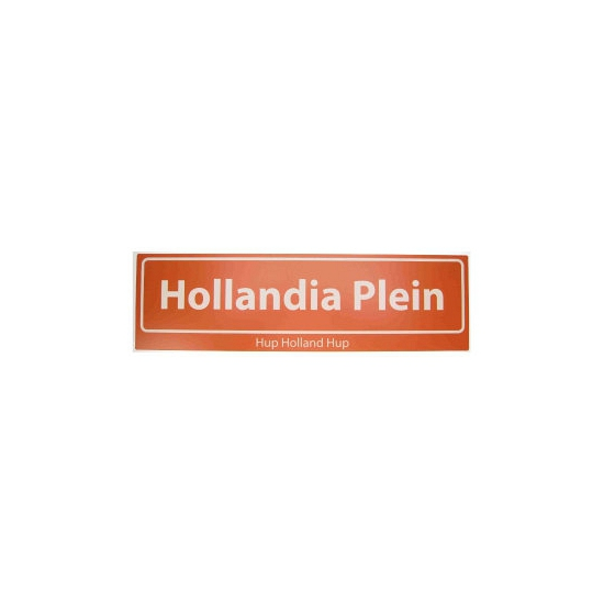 Hollandia straatbord Hup Holland Hup