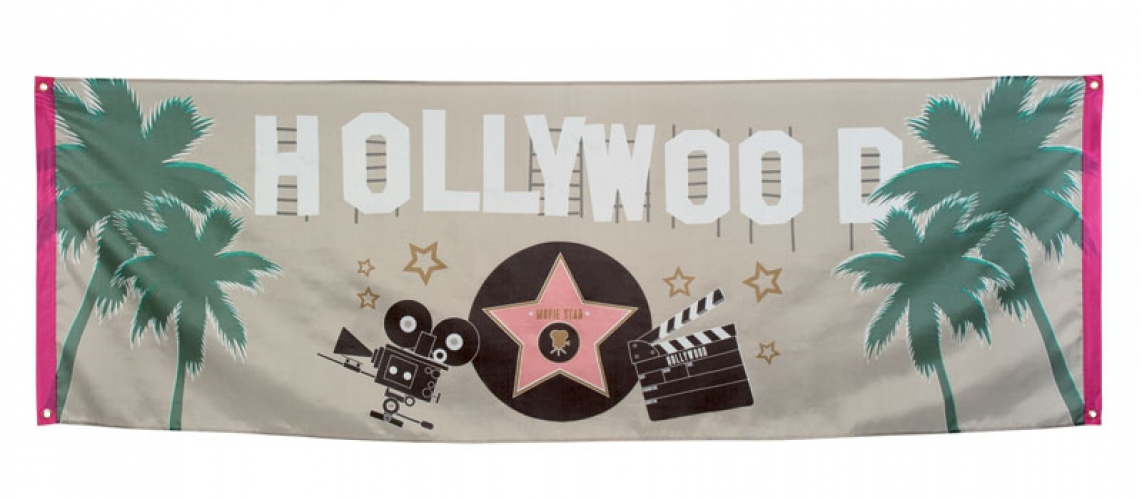 Hollywood thema vlag 74 x 220 cm