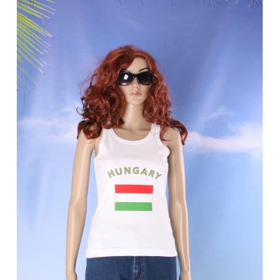 Hongaarse vlag tanktop / singlet voor dames