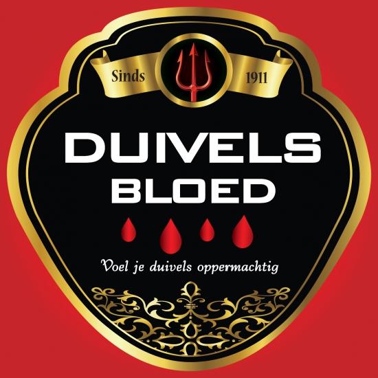 Horror thema duivels bloed fles etiketten