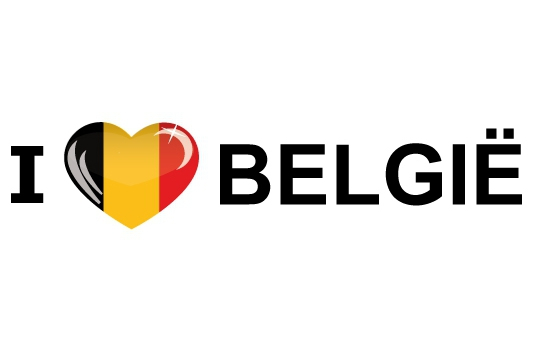 I Love Belgie stickers