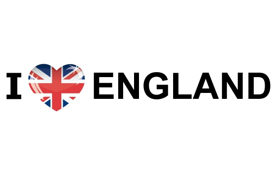 I Love England sticker