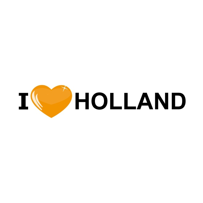 I Love Holland oranje stickers