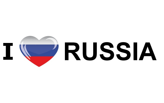 I Love Russia stickers