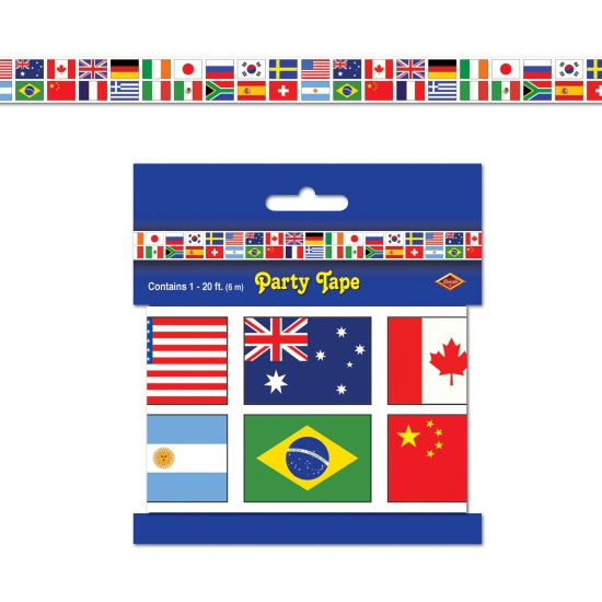 Internationaal thema feest lint 6 meter