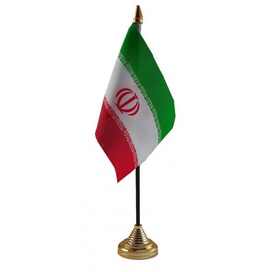 Iran tafelvlaggetje inclusief standaard