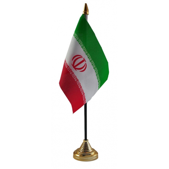 Iranese tafelvlag met standaard