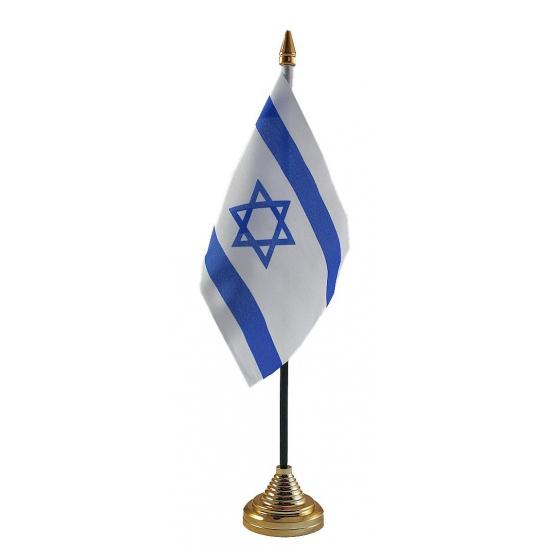 Israelische tafelvlag met standaard