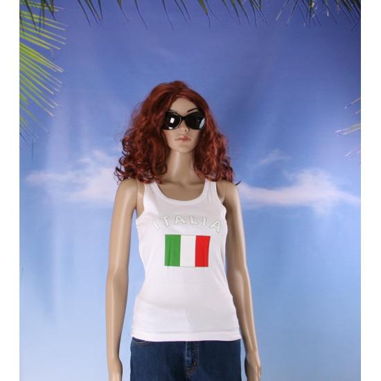 Italiaanse vlag tanktop / singlet voor dames