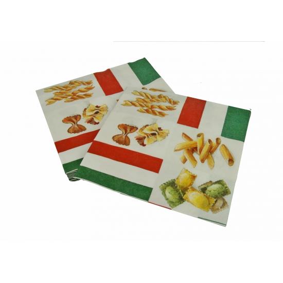 Italie servetten met pasta 20 stuks