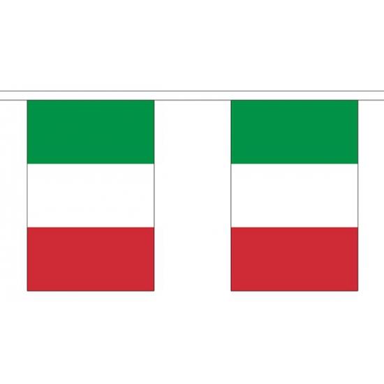 Italie vlaggenlijn van stof 3 m