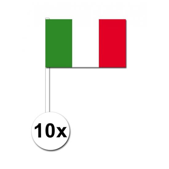 Italie zwaai vlaggetjes 10 stuks