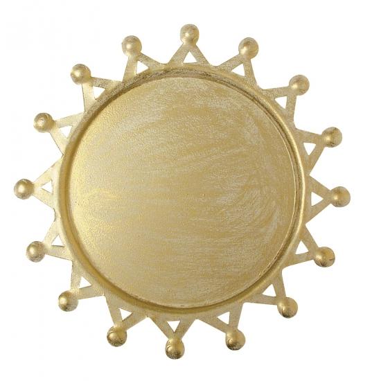 Kaarsen onderbord goud 19 cm