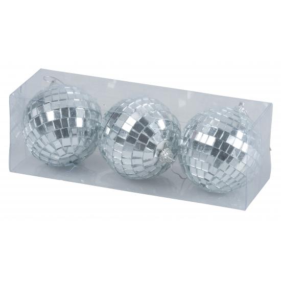 Kerstballen met spiegeltjes 7 cm