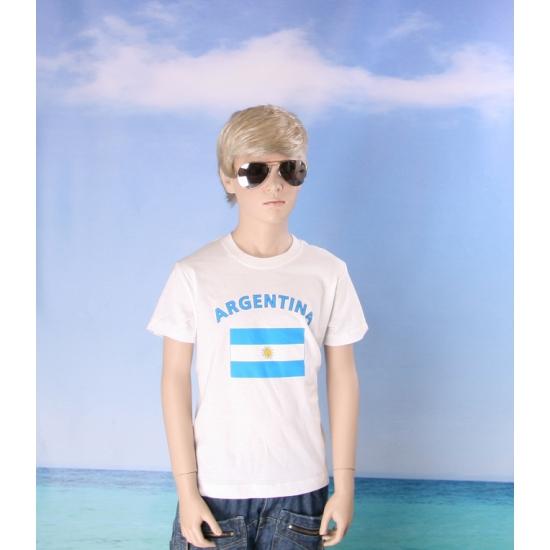 Kinder shirts met vlag van Argentinie