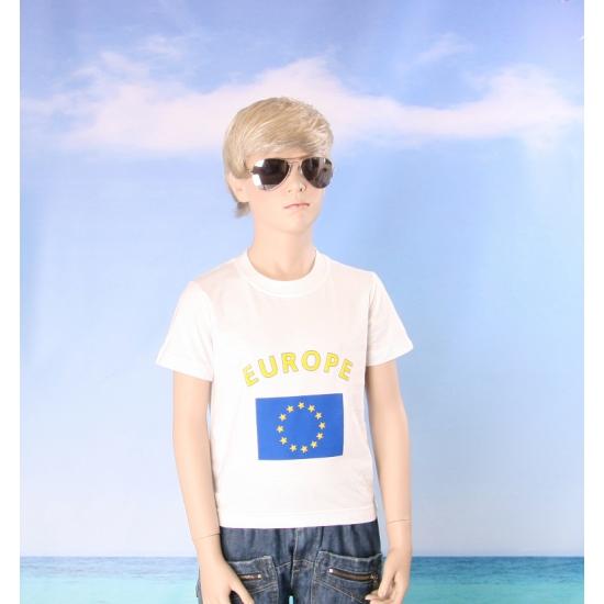 Kinder shirts met vlag van Europa