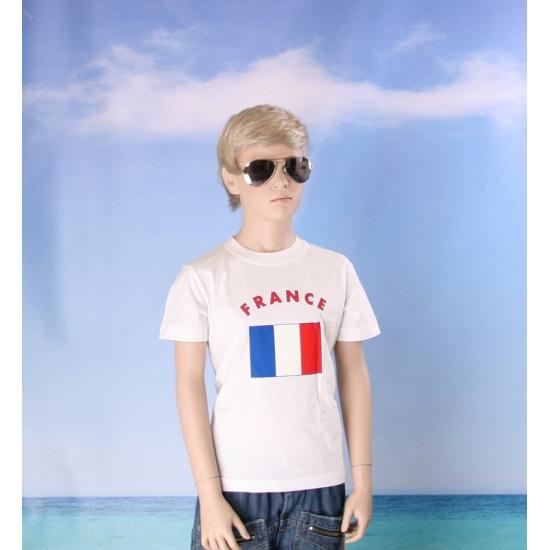 Kinder shirts met vlag van Frankrijk
