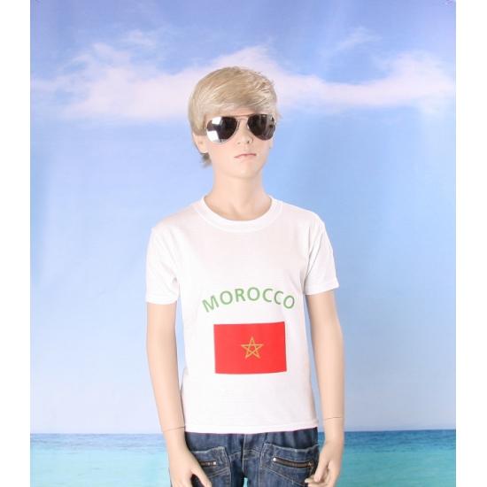 Kinder shirts met vlag van Marokko